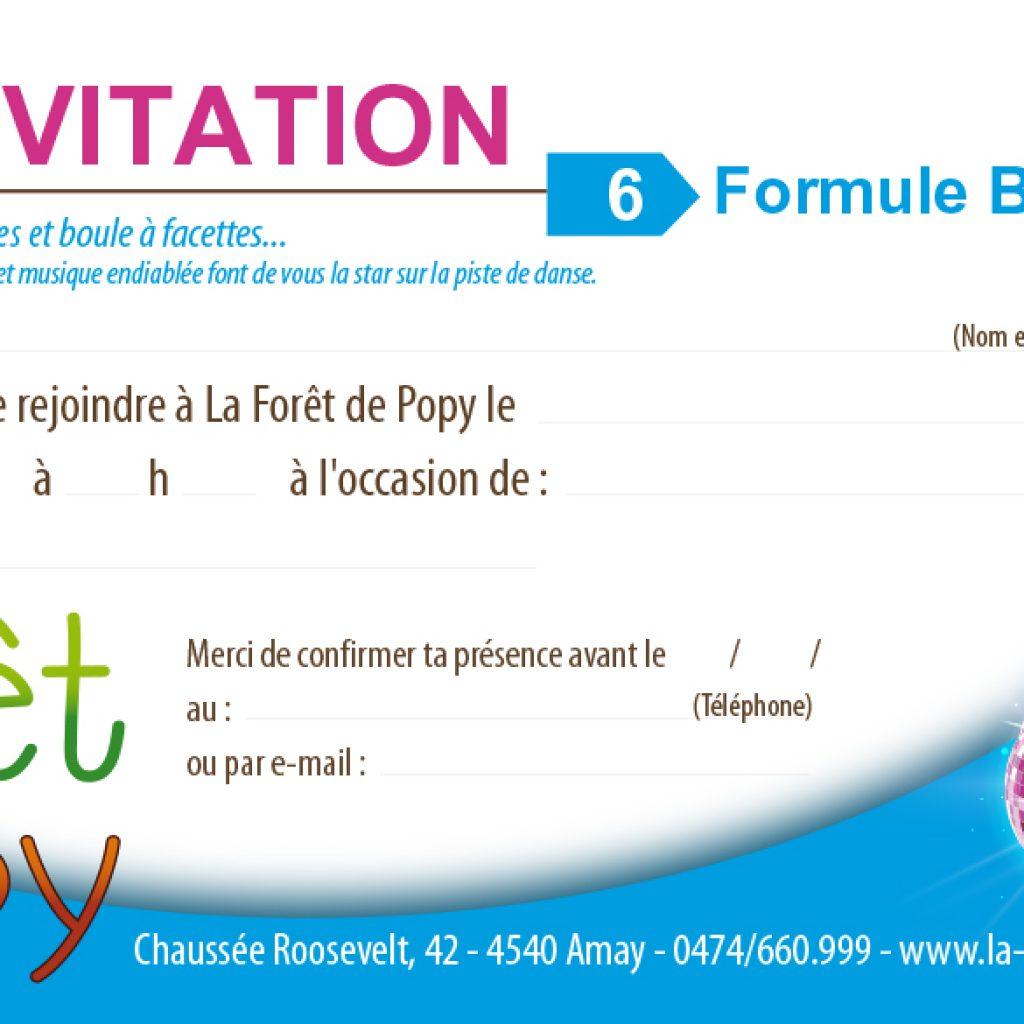 Cartons D Invitations La Foret De Popy Centre Recreatif Pour Enfants
